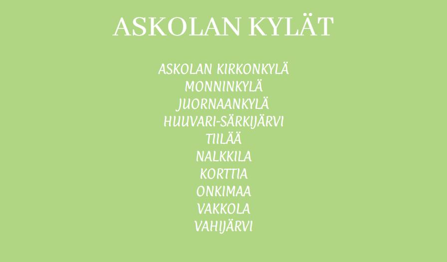 askolan kylät